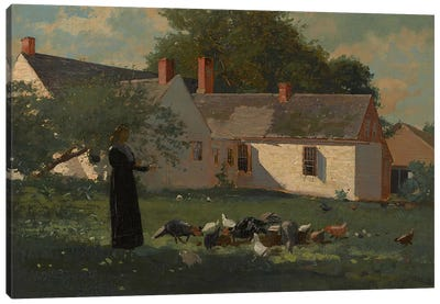 Farmyard Scene, c.1874 by Winslow Homer Canvas Art