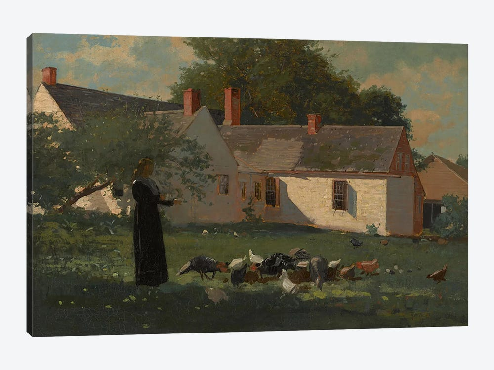 Farmyard Scene, c.1874  by Winslow Homer 1-piece Canvas Art Print