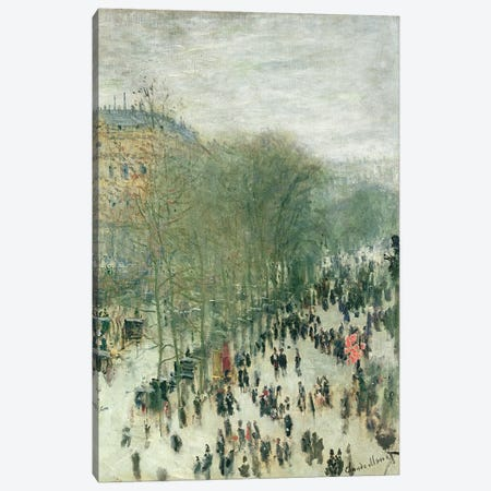 Boulevard des Capucines, 1873-4  Canvas Print #BMN3532} by Claude Monet Canvas Print