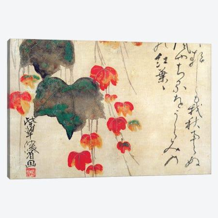 Poppies  Canvas Print #BMN3533} by Japanese School Canvas Art Print