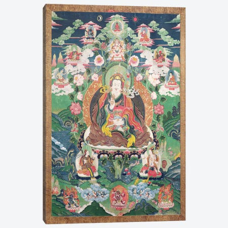 Tanka of Padmasambhava, c.749 AD  Canvas Print #BMN3534} by Tibetan School Canvas Wall Art
