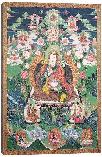 Tanka of Padmasambhava, c.749 AD  Canvas Art Print