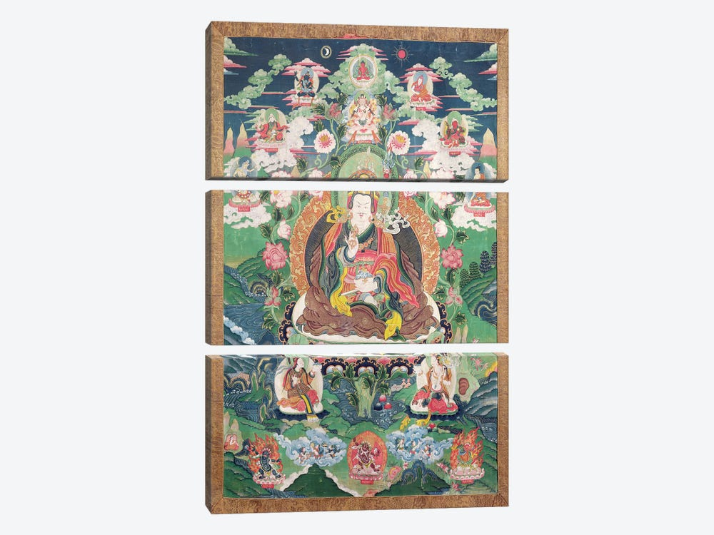 Tanka of Padmasambhava, c.749 AD  by Tibetan School 3-piece Canvas Art
