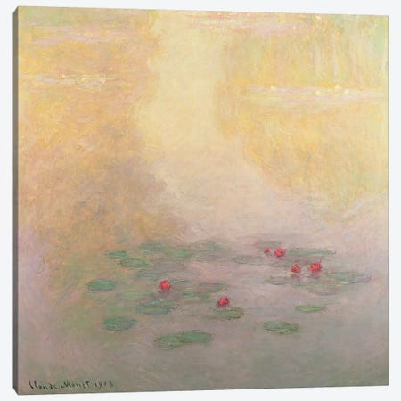 Nympheas, 1908  Canvas Print #BMN3537} by Claude Monet Canvas Wall Art