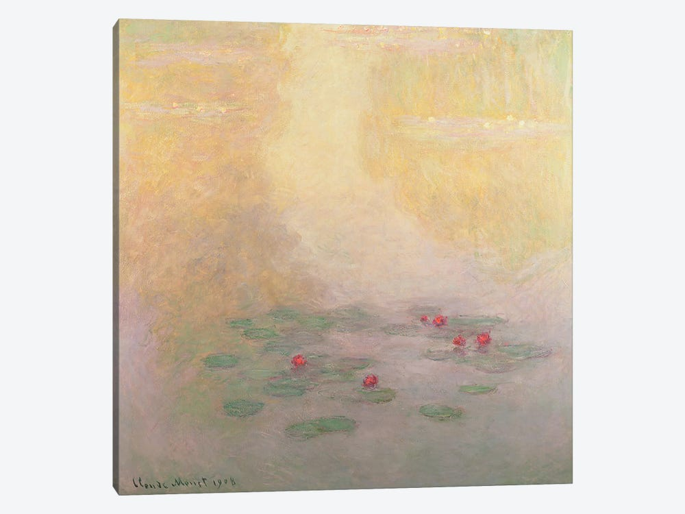 Nympheas, 1908  by Claude Monet 1-piece Canvas Art Print