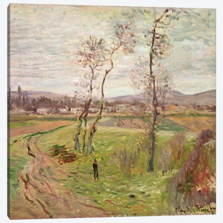 The Plain at Gennevilliers, 1877  Canvas Print #BMN3539} by Claude Monet Canvas Print