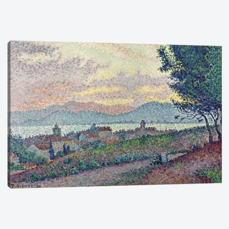St. Tropez, Pinewood, 1896  3-Piece Canvas #BMN353} by Paul Signac Canvas Artwork