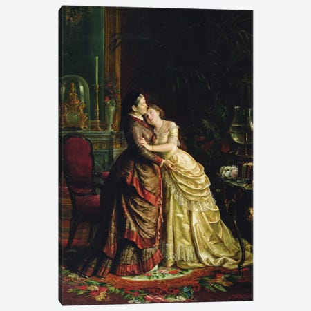 Before the Marriage  Canvas Print #BMN3540} by Sergei Ivanovich Gribkov Canvas Wall Art