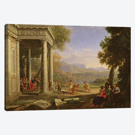 David is consecrated king by Samuel  Canvas Print #BMN3546} by Claude Lorrain Art Print