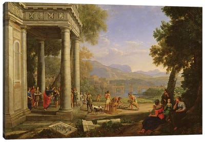 David is consecrated king by Samuel  Canvas Art Print