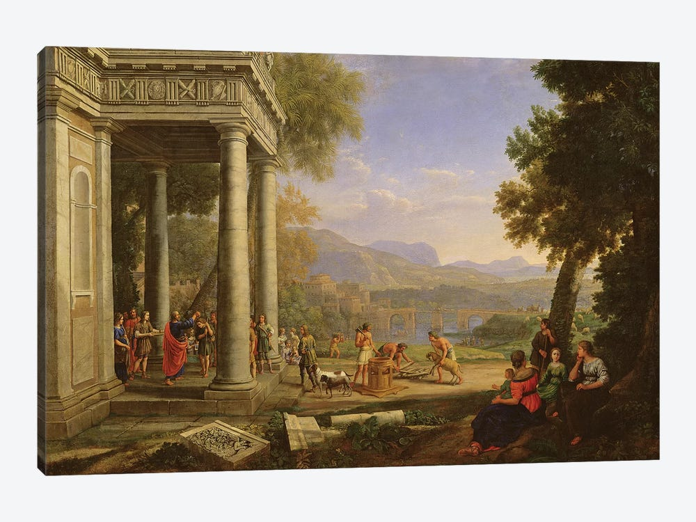David is consecrated king by Samuel  by Claude Lorrain 1-piece Canvas Print