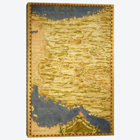 Map of Persia  Canvas Print #BMN3550} by Stefano Bonsignori Canvas Print