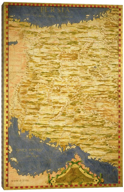 Map of Persia  Canvas Print #BMN3550