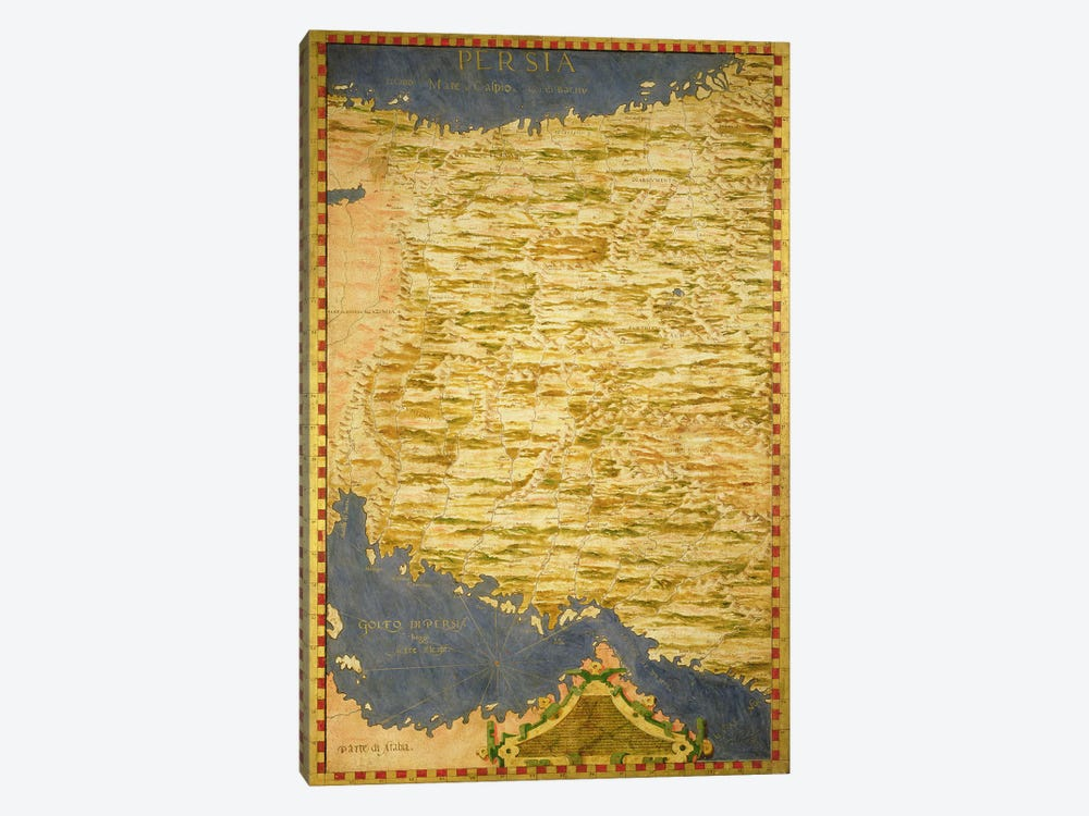 Map of Persia  by Stefano Bonsignori 1-piece Canvas Wall Art