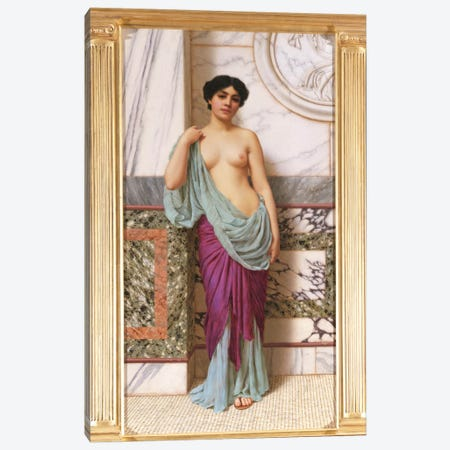 In the Tepidarium, 1909  Canvas Print #BMN3555} by John William Godward Canvas Art