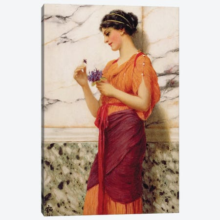 Violets, 1908  Canvas Print #BMN3556} by John William Godward Canvas Artwork