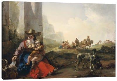 Italian Peasants among Ruins, c.1649/50  Canvas Art Print