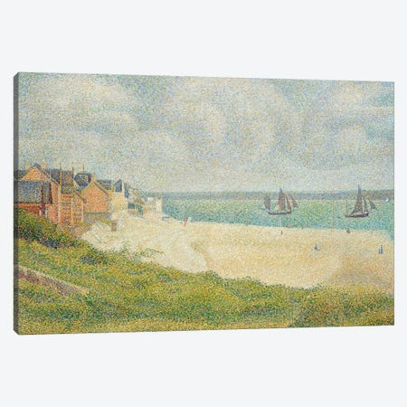 Le Crotoy looking Upstream, 1889 Canvas Print #BMN355} by Georges Seurat Art Print