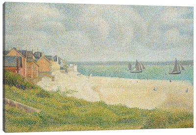 Le Crotoy looking Upstream, 1889 Canvas Art Print