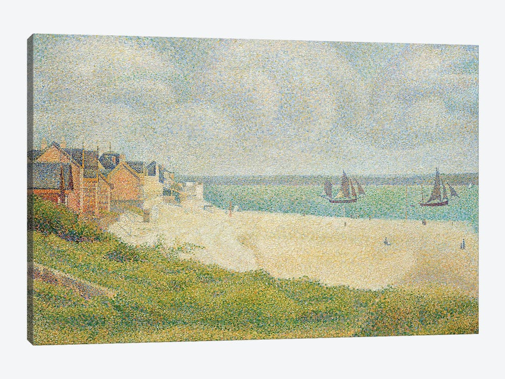 Le Crotoy looking Upstream, 1889 by Georges Seurat 1-piece Art Print