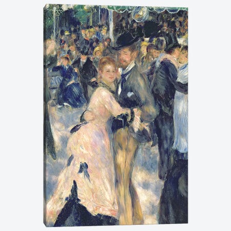Ball at the Moulin de la Galette, 1876   Canvas Print #BMN3560} by Pierre-Auguste Renoir Canvas Artwork