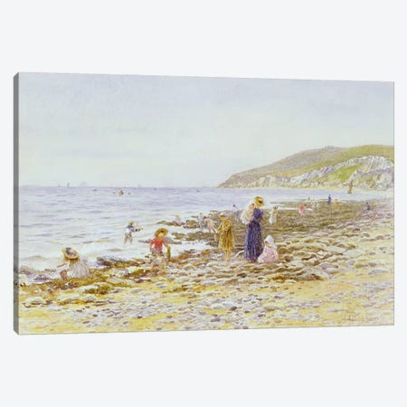 On the Beach  Canvas Print #BMN3563} by Helen Allingham Canvas Art