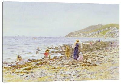 On the Beach  Canvas Art Print