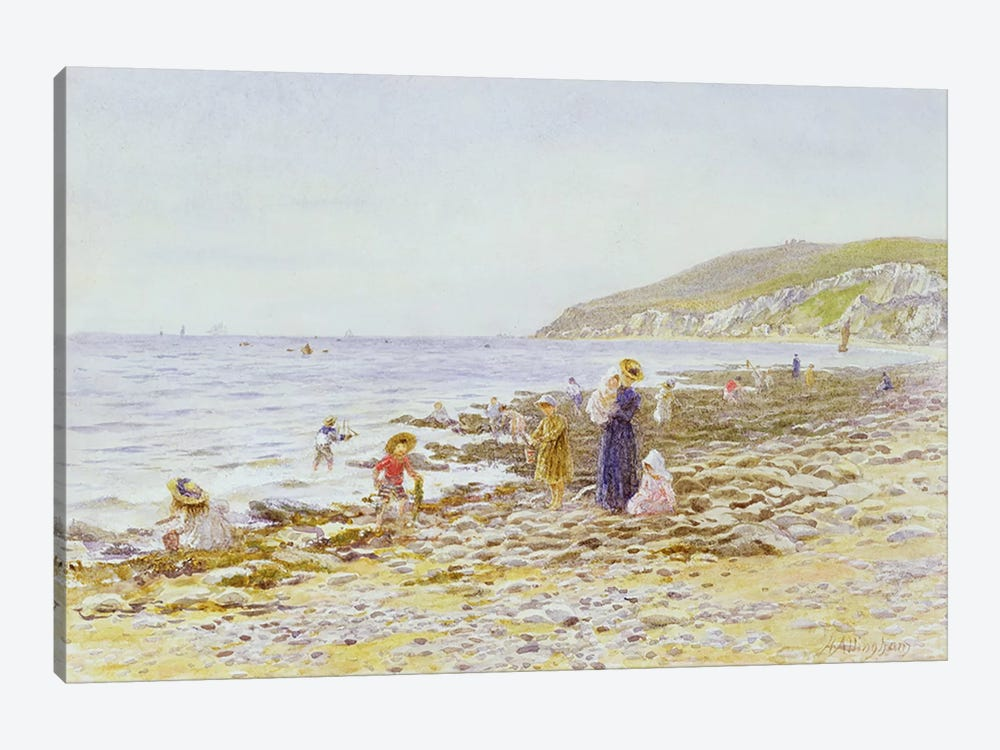 On the Beach  by Helen Allingham 1-piece Canvas Art