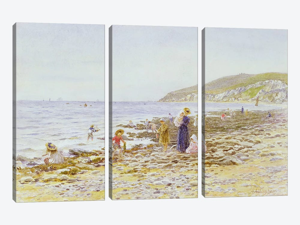 On the Beach  by Helen Allingham 3-piece Canvas Artwork