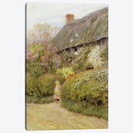 Freshwater Cottage  Canvas Print #BMN3564} by Helen Allingham Canvas Print