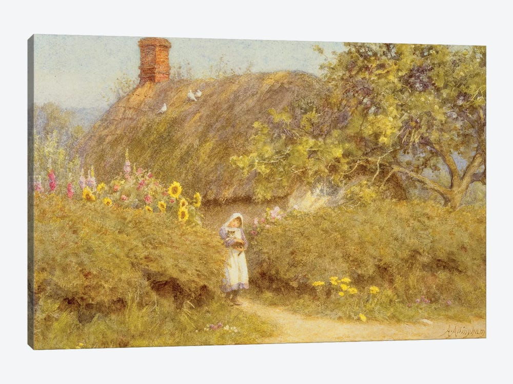 A Surrey cottage  by Helen Allingham 1-piece Canvas Artwork