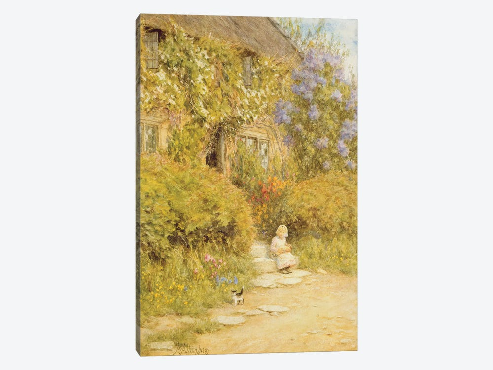 A cottage near Crewkerne  by Helen Allingham 1-piece Canvas Print
