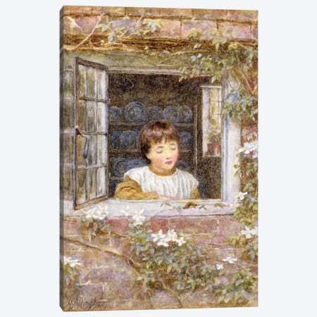 The Caterpillar  Canvas Print #BMN3567} by Helen Allingham Art Print