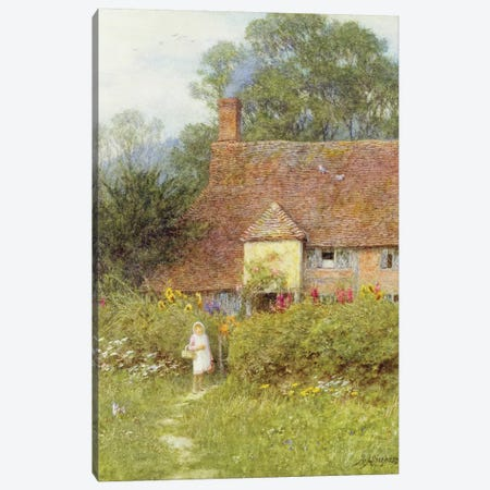 By the Cottage Gate  Canvas Print #BMN3569} by Helen Allingham Canvas Wall Art