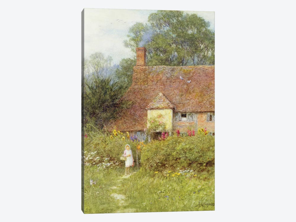 By the Cottage Gate  by Helen Allingham 1-piece Canvas Art
