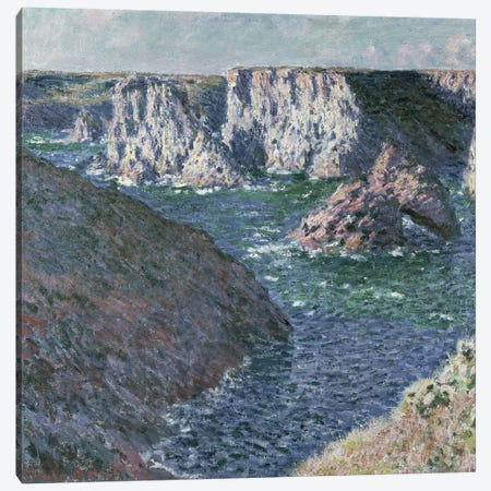 The Rocks of Belle Ile, 1886  Canvas Print #BMN356} by Claude Monet Canvas Art Print