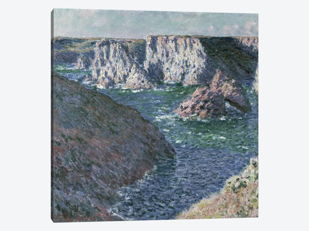 The Rocks of Belle Ile, 1886  by Claude Monet 1-piece Canvas Wall Art