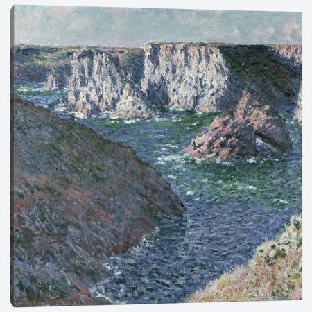 The Rocks of Belle Ile, 1886  Canvas Print #BMN356} by Claude Monet Canvas Art Print