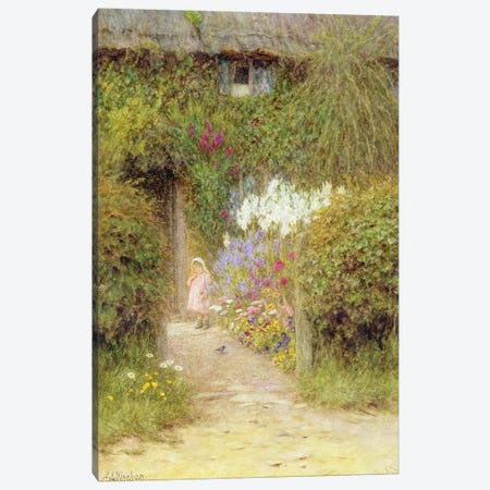 A cottage at Redlynch  Canvas Print #BMN3570} by Helen Allingham Art Print