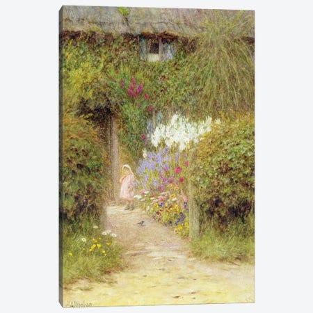 A cottage at Redlynch  Canvas Print #BMN3570} by Helen Allingham Art Print