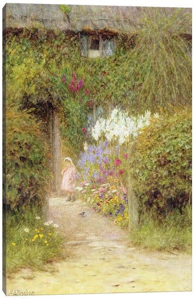 A cottage at Redlynch  Canvas Art Print