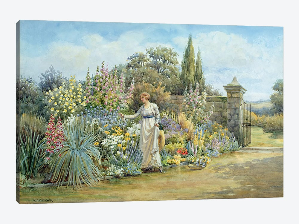 In the Garden  by William Ashburner 1-piece Canvas Wall Art