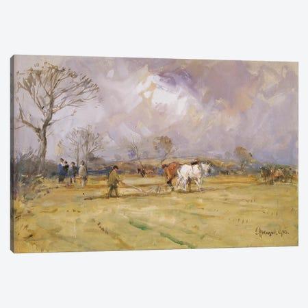 The Plough Team, 1905  3-Piece Canvas #BMN3577} by John Atkinson Canvas Art