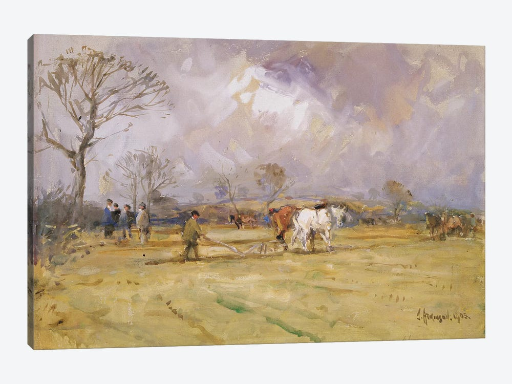 The Plough Team, 1905  by John Atkinson 1-piece Canvas Print