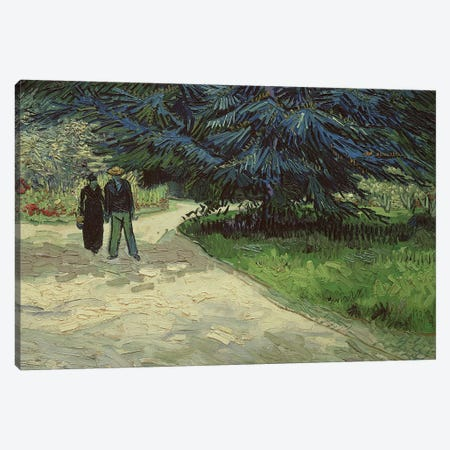 Couple in the Park, Arles, 1888  Canvas Print #BMN357} by Vincent van Gogh Art Print