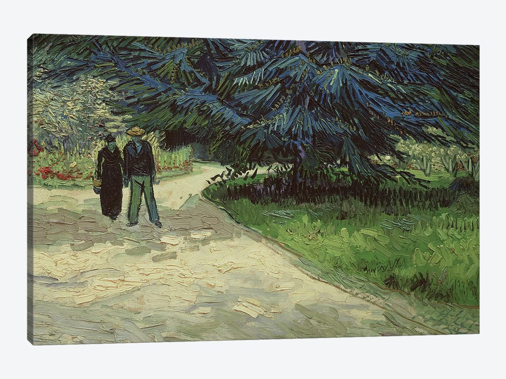 Couple in the Park, Arles, 1888  by Vincent van Gogh 1-piece Art Print
