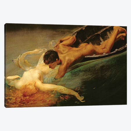 Green Abyss, 1862  Canvas Print #BMN3580} by Giulio Aristide Sartorio Canvas Art