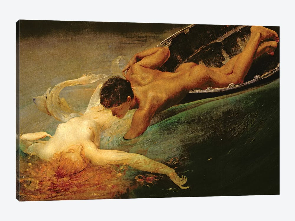 Green Abyss, 1862  by Giulio Aristide Sartorio 1-piece Art Print