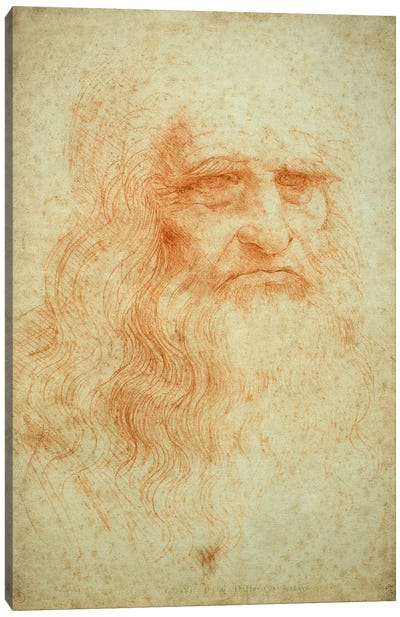 Self portrait, c.1512 by Leonardo da Vinci Canvas Artwork