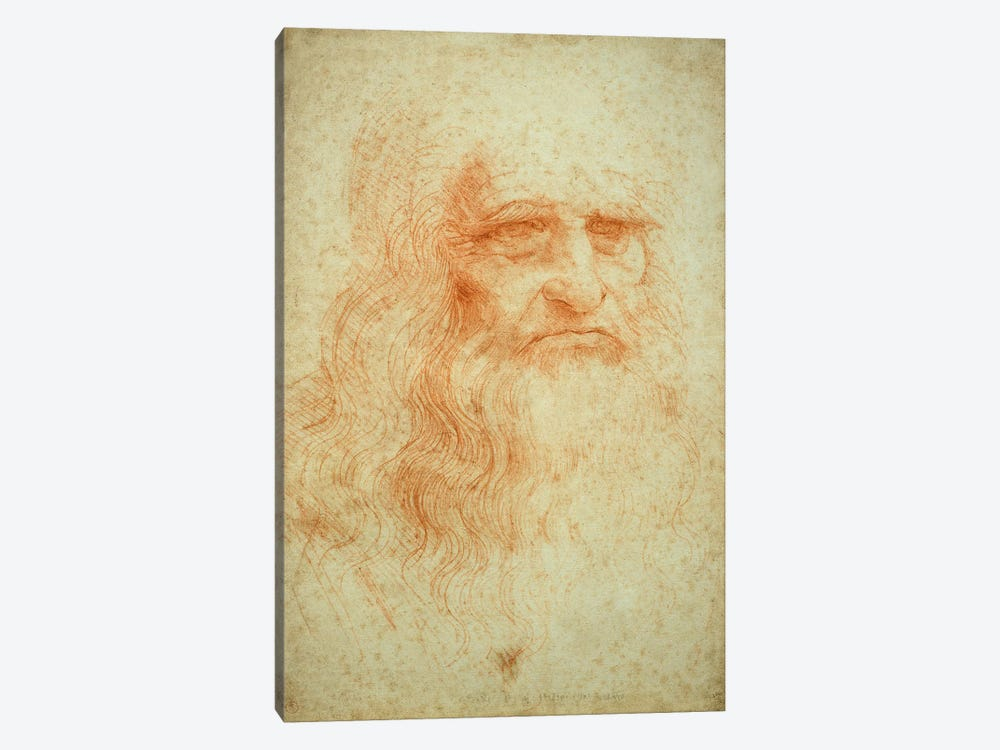 Self portrait, c.1512 by Leonardo da Vinci 1-piece Canvas Artwork